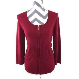 Cable & Gauge Zip Up Cardigan Sweater